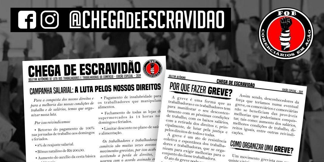Novas publicações do Boletim Chega de Escravidão
