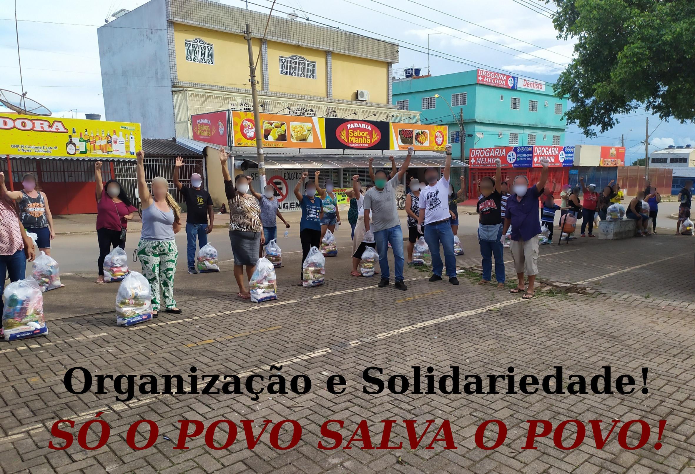 Mutirão de solidariedade às famílias sem-teto no DF