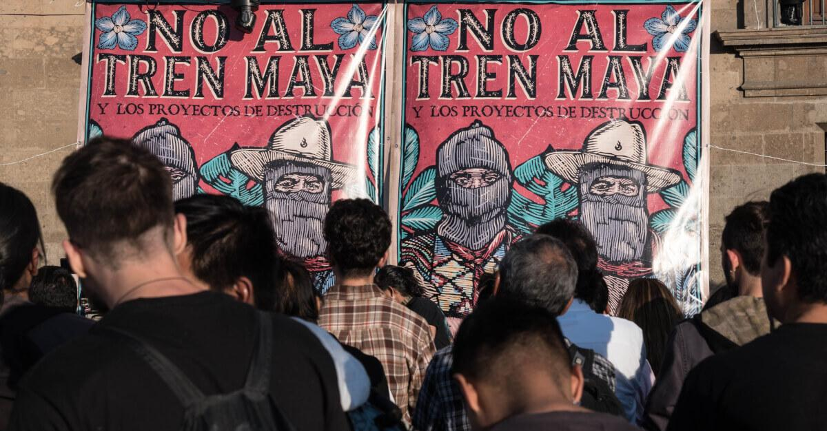 Em meio a crise de Covid-19 o governo de López Obrador segue com megaprojetos e militarização contra os povos