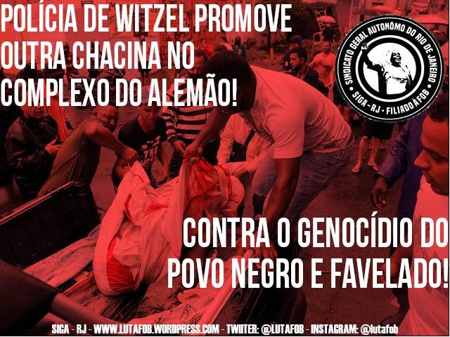 Genocídio do povo negro e favelado: forças policiais promovem massacre no Complexo do Alemão