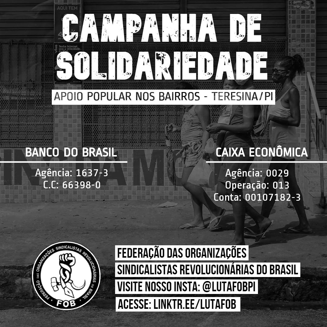 Ajude a campanha de solidariedade da FOB Piauí