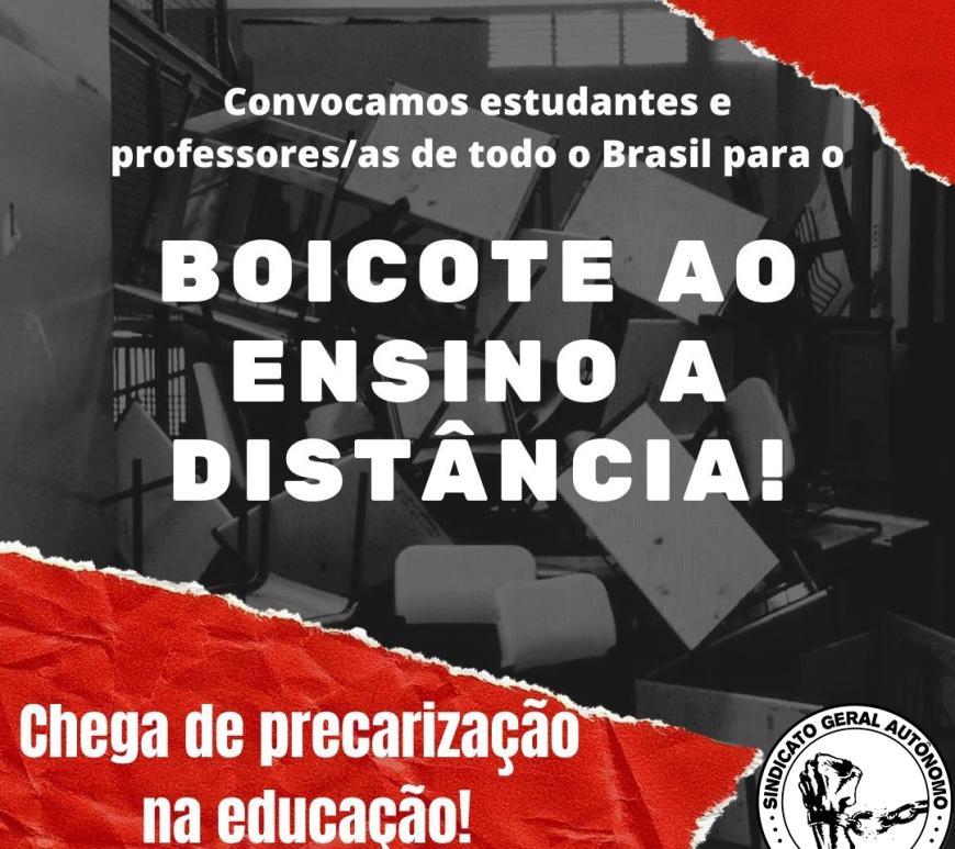 Boicote ao Ensino a Distância!