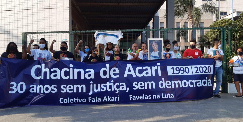 Ato relembra os 30 anos da chacina de Acari, exige justiça e o fim do genocídio do povo negro e favelado