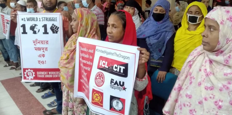 Mensagem internacional de Solidariedade dos trabalhadores do vestuário da GWTUC