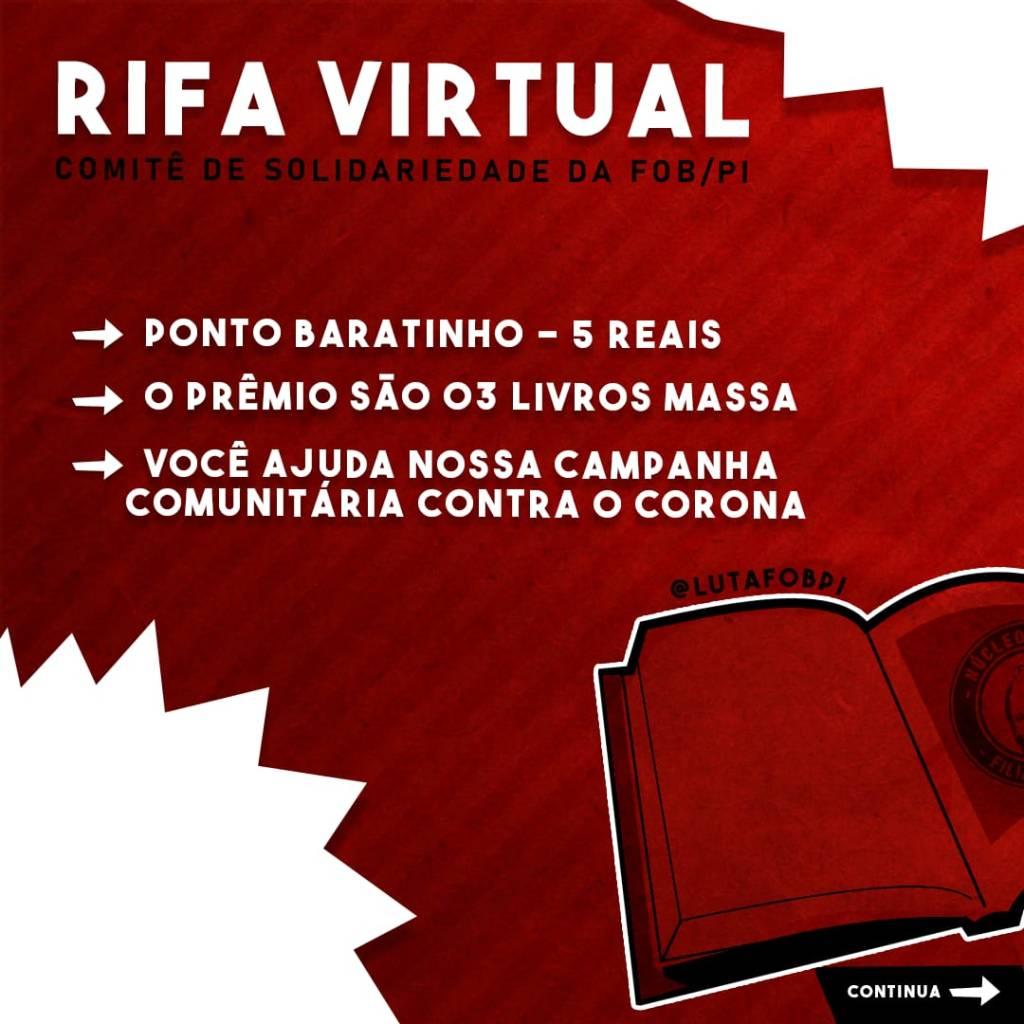 Rifa para ajudar a Campanha de Solidariedade da FOB-Piauí