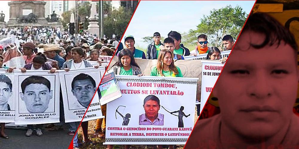 Memória e justiça para os 43 de Ayotzinapa, Clodiodi e Jesus de Souza!