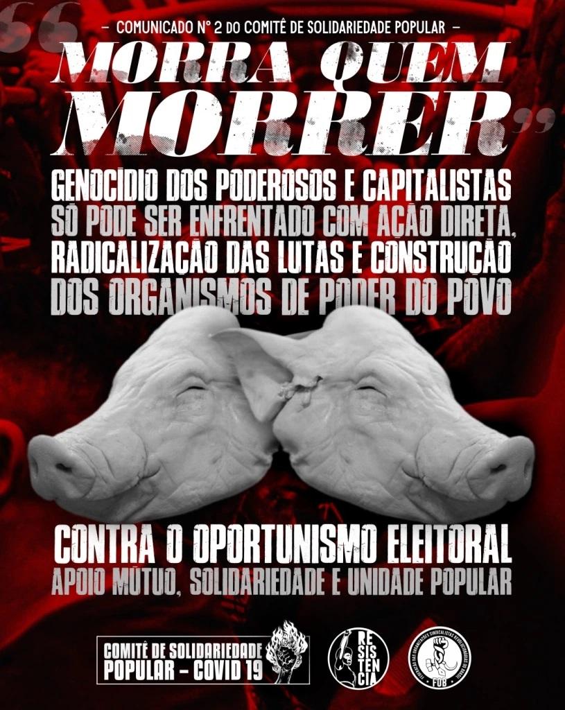 Comunicado n° 2 do Comitê de Solidariedade Popular – Feira de Santana