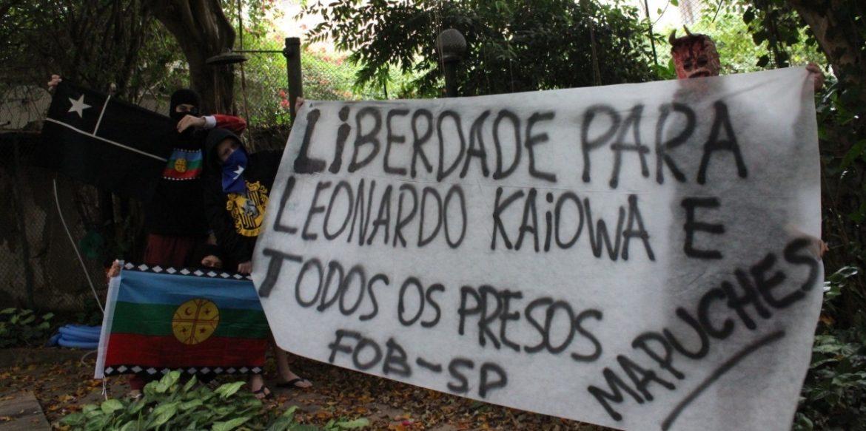 ¡Libertad para Leonardo Guarani-Kaiowá y todos los presos políticos Mapuche!