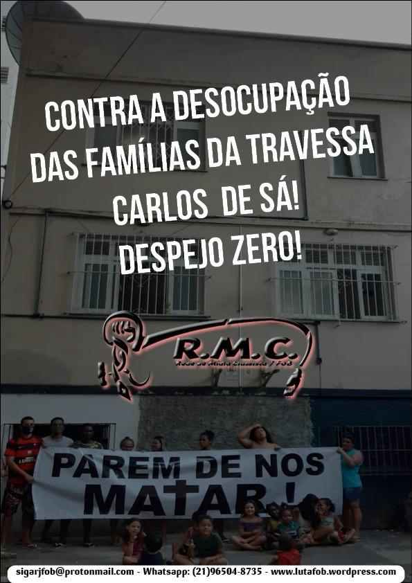 URGENTE: Justiça do Rio de Janeiro determina despejo de famílias durante a pandemia!