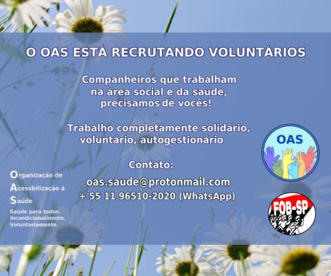 Recrutamento projeto OAS.