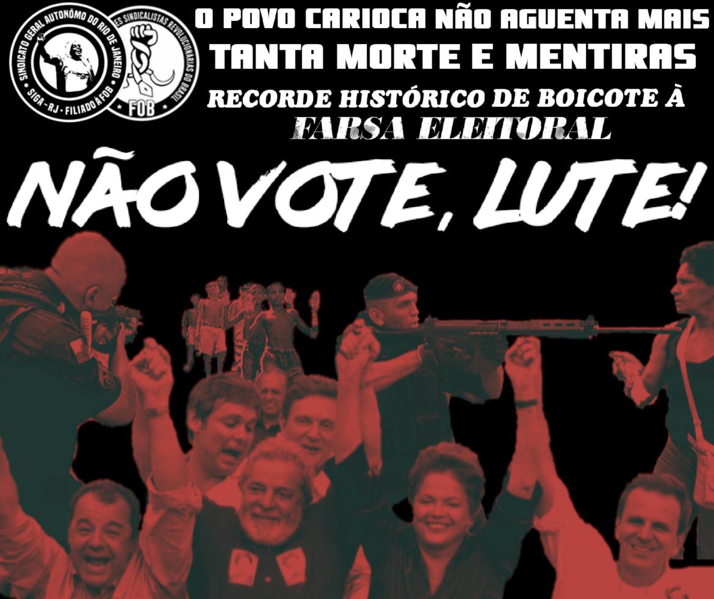 A farsa eleitoral no Rio de Janeiro