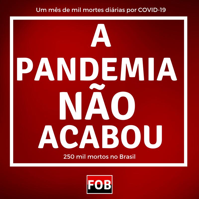 Brasil ultrapassa 250 mil mortes notificadas