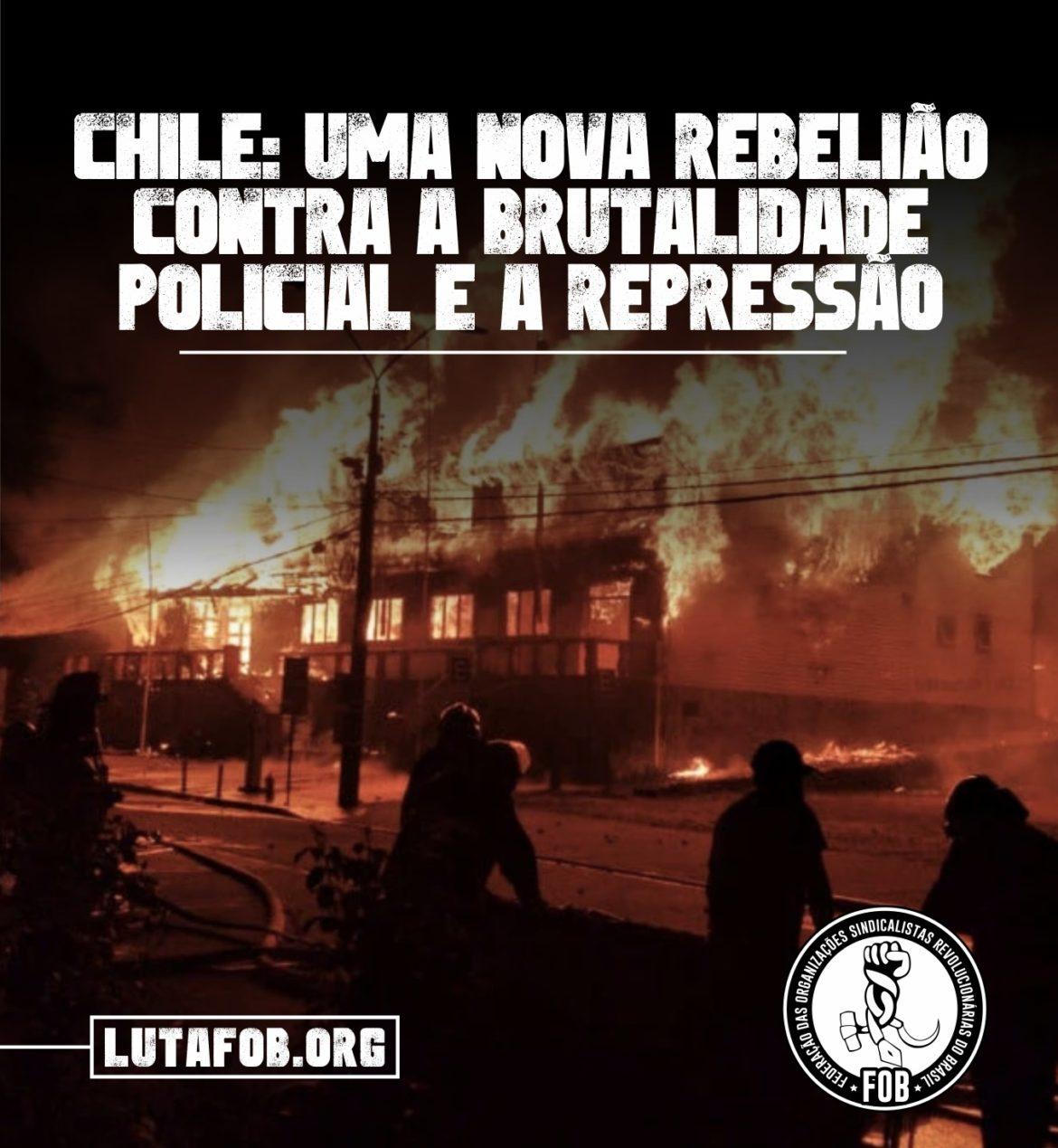 Chile: uma nova rebelião contra a brutalidade policial e a repressão