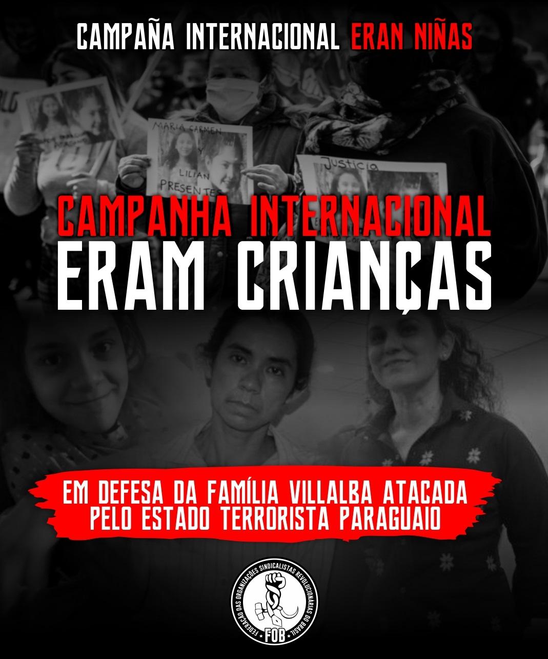 Campanha Internacional Eran Niñas denuncia o Estado terrorista e infanticida paraguaio