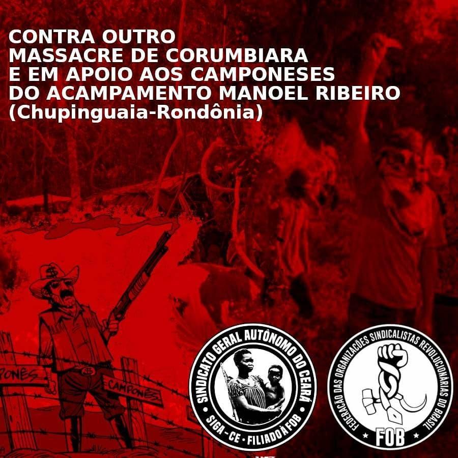 Contra outro Massacre de Corumbiara e em apoio aos camponeses do Acampamento Manoel Ribeiro – LCP