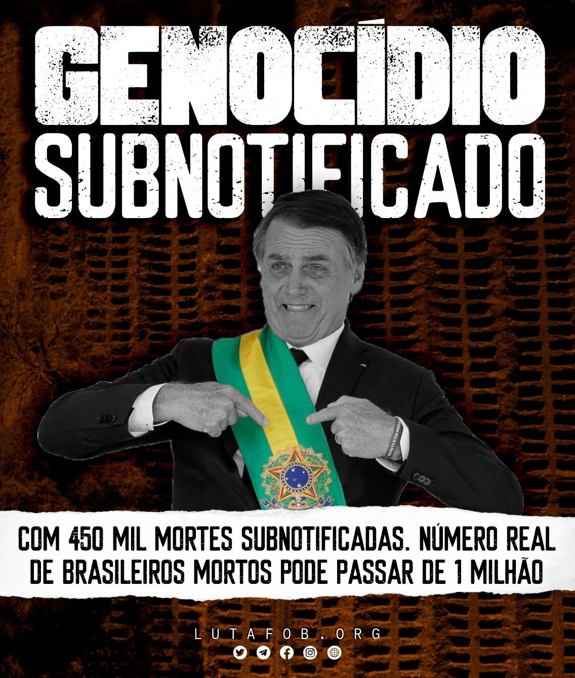 Genocídio subnotificado: Covid-19 pode ter matado mais de 1 milhão de brasileiros