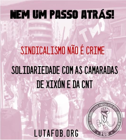 Repressão Anti-Sindical contra Sindicalistas da CNT  (Espanha)