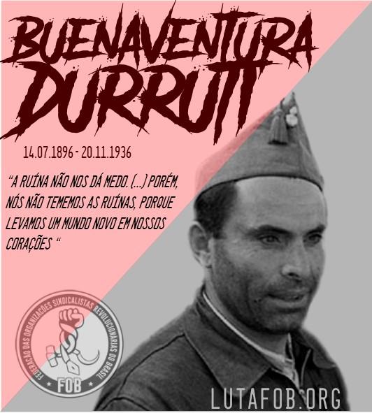 Memória I 125 anos do nascimento de Durruti: guerra e revolução