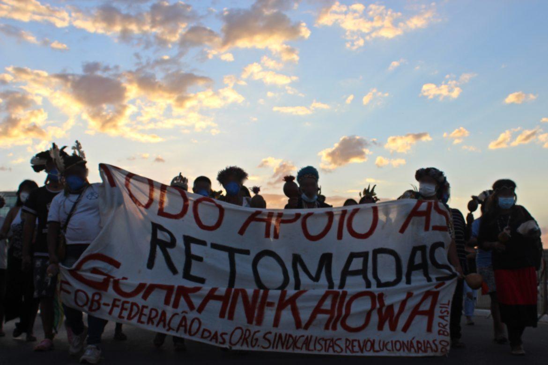 FOB MS e FOB DF | Mobilização nacional indígena e IX KUÑANGUE ATY GUASU: ação direta por terra e liberdade!